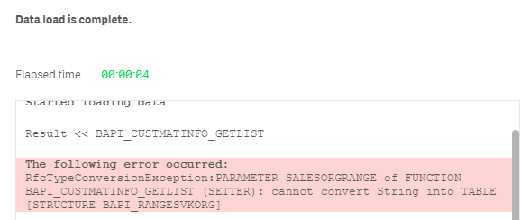 SAP BAPI Connector - Qlik Community