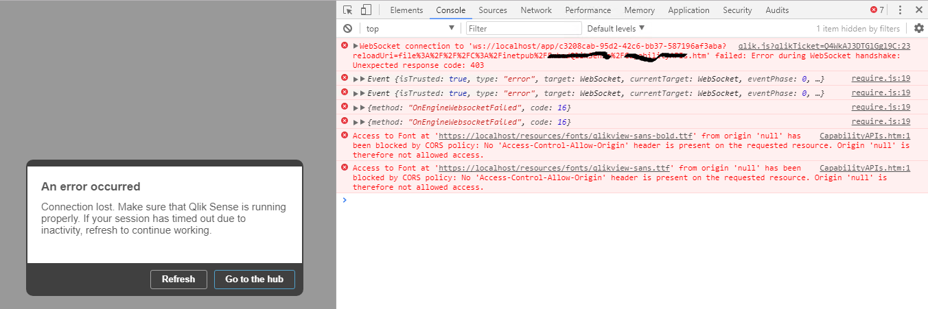 sap websocket error incorrect http response. status code 403 forbidden