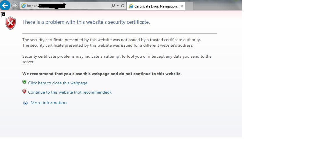 Ssl Certificate Error During Accessing Access Poin Qlik Community