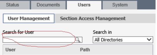 QMC User Management Not Searching for user - Qlik Community