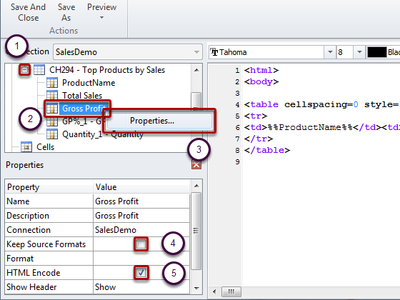 How to Apply HTML Formatting to NPrinting HTML Rep    - Qlik