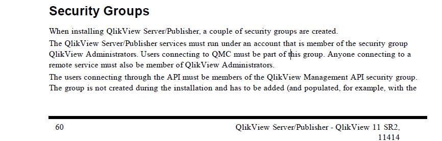 Solved Qlikview Administrators Server Local Group Audit Qlik