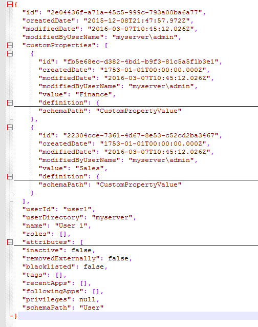 Solved: QRS API - updating users custom properties - Qlik