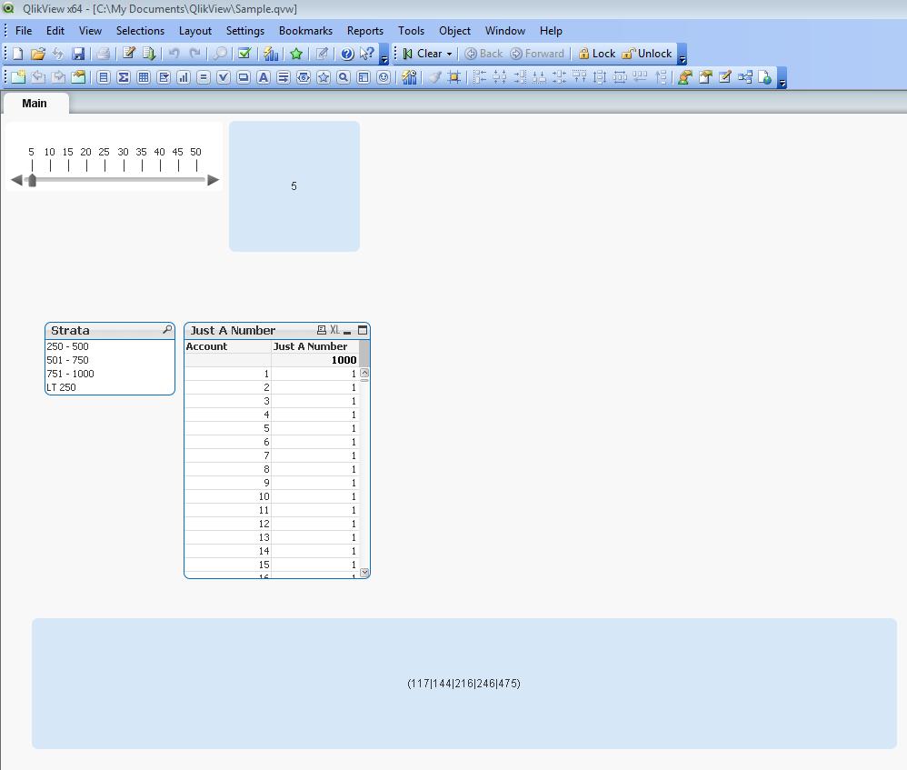 Solved: Random Sample using Slider object - Qlik Community