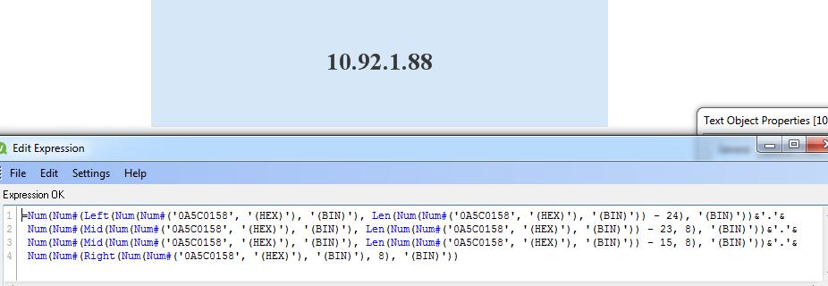 Solved: Convert HEX value to IP address - Qlik Community