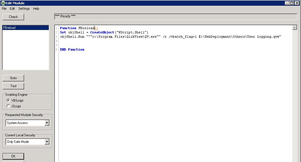 QMC task not executing a qvw containing vbscript - Qlik Community