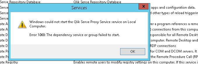 Services Issue qliksense - Qlik Community