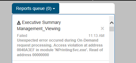 Solved: Unexpected error occured during On-Demand request
