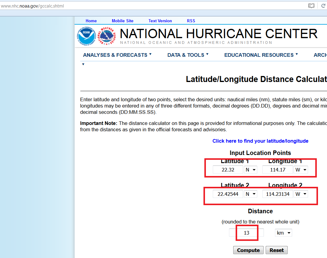 Solved: Calculating distance using Latitude and Longitude