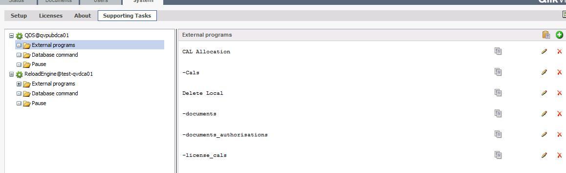 Manual Run Of Supporting Tasks Qlik Community
