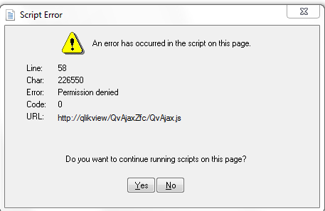Solved: Permission Denied Javascript - Qlik Community
