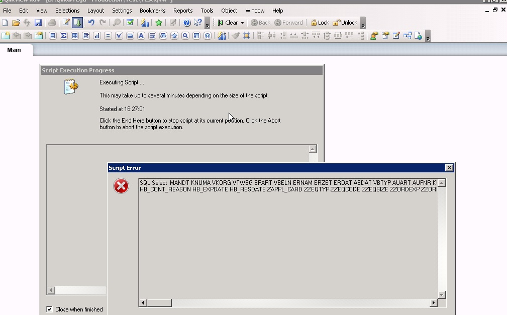 Solved: Problem in fetching Data sap(vbak table) to qlikvi