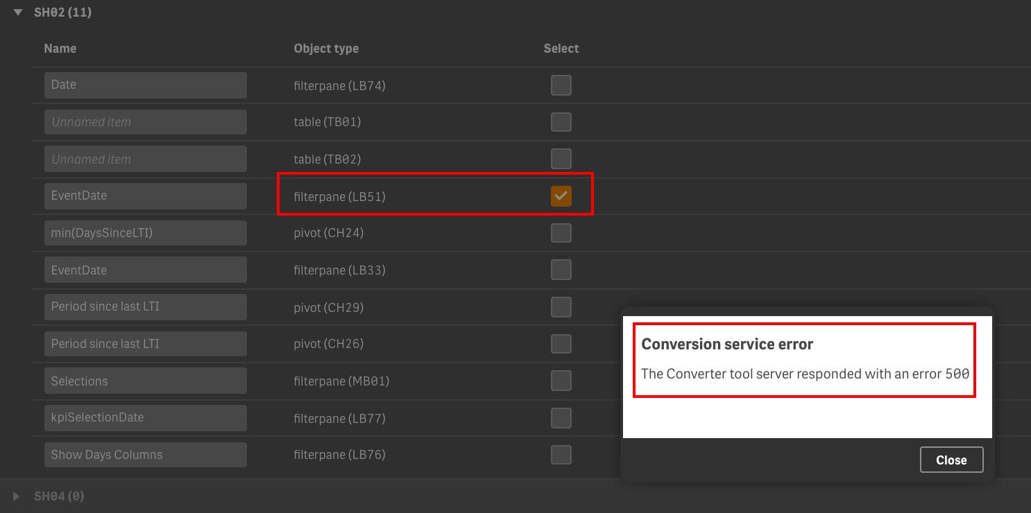 Re: Qlik Sense 3 2 Converter Tool error 500 - Qlik Community