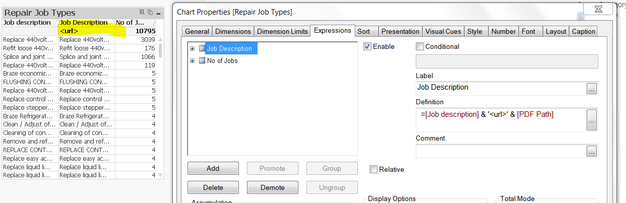 how to open a PDF when user click on certain value - Qlik