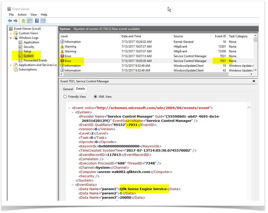 QlikSense Service Failure Email Alerts in less tha    - Qlik Community