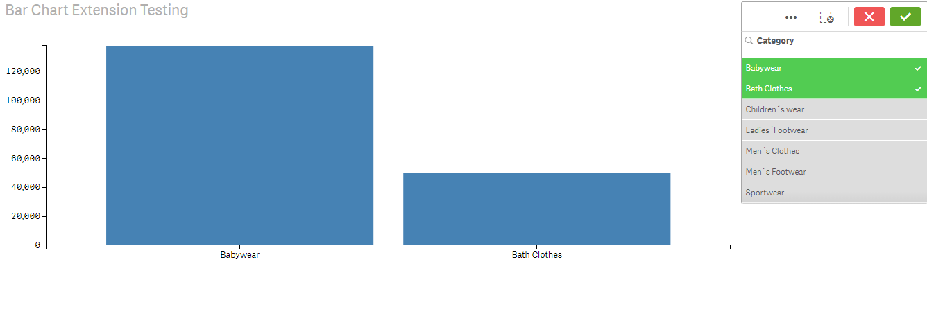 How to make selections in bar chart extension(d3 j    - Qlik Community