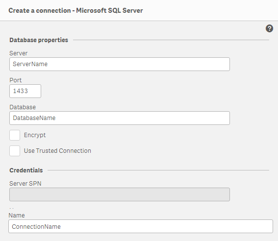 Qlik Sense Desktop Microsoft SQL Server Connection    - Qlik