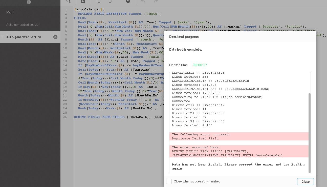 Creating Auto calendar by script and producing Syn    - Qlik Community