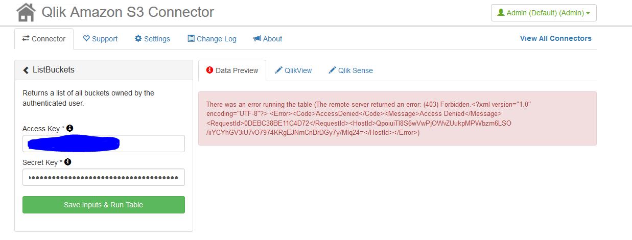 Solved: QS S3 Connection for Non Public files - Qlik Community