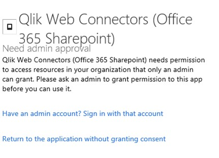 Solved: Qlik Sense Office 365 Sharepoint Connector