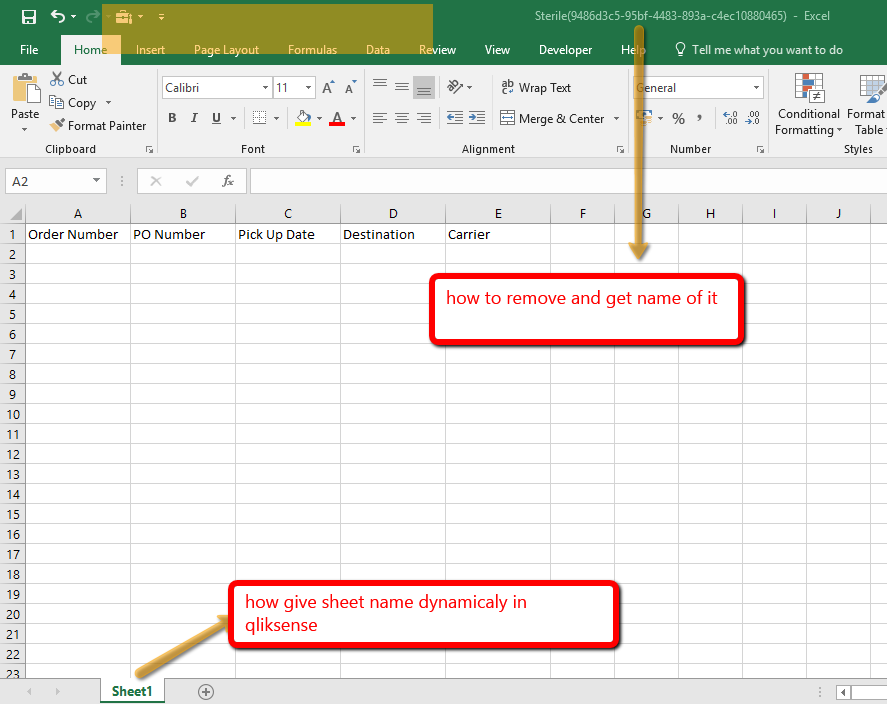 How to get dynamic names for excel and sheet name... - Qlik Community