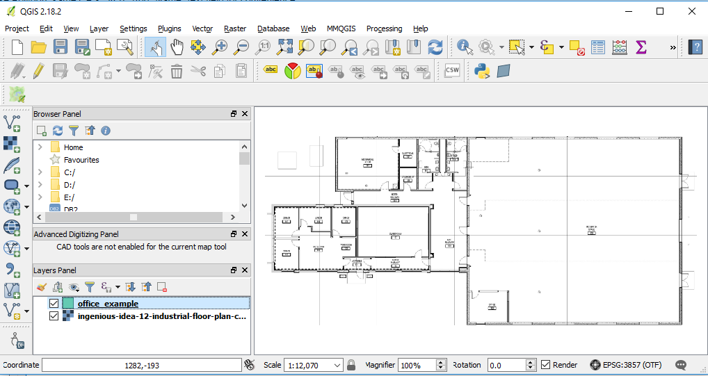 0ed9cb00aa68 Drag and drop the image to the layers panel of QGIS. Choose a meter based  Coordinate Reference System