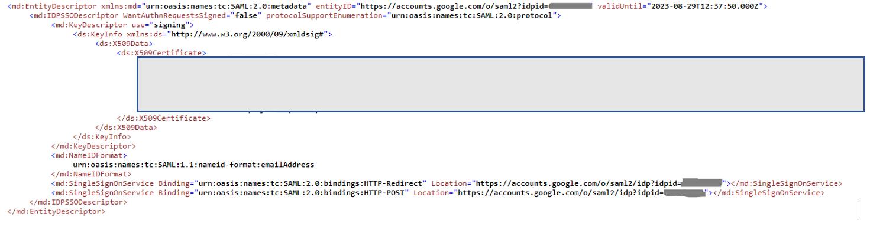 Solved: Qlik Sense and SAML setup for Google auth - 500 er