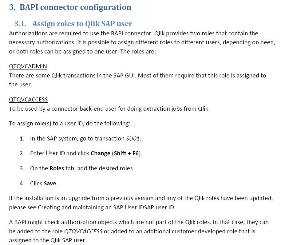 Solved: SAP BAPI Connector on QlikSense June 2018 - Qlik Community