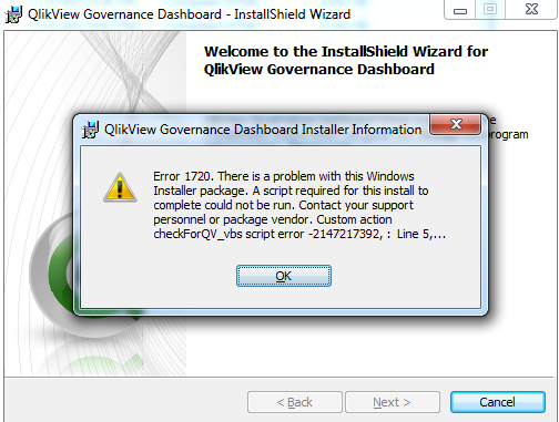 Solved: Governance Dashboard Installation Error - Qlik Community
