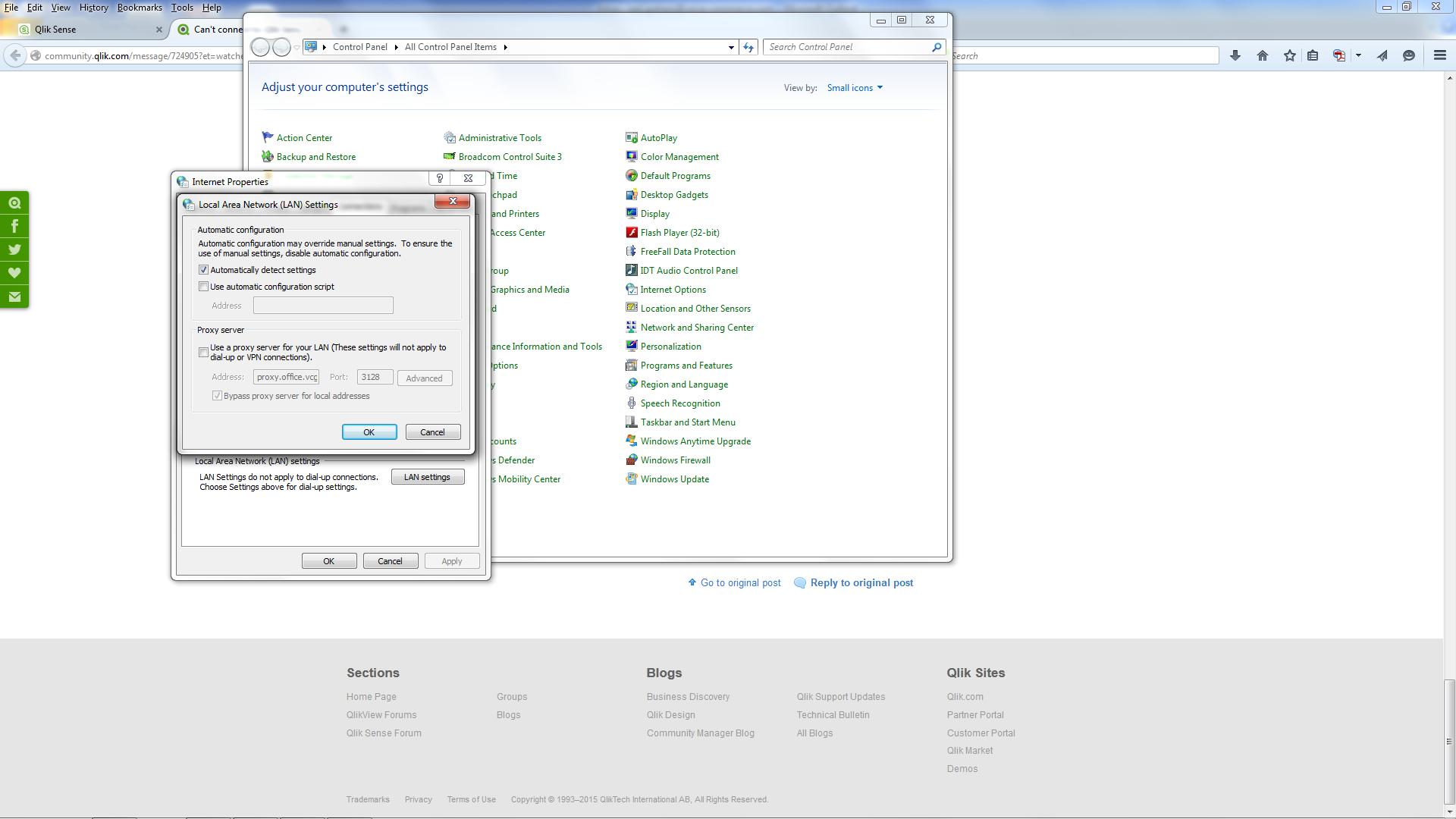 Re: Can't connect to Qlik Sense Desktop