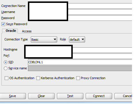 Solved: Error connecting to Oracle OLE DB with SID instead