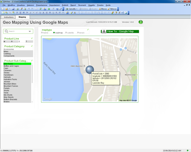 Solved: Popup text in google maps charts - Qlik Community