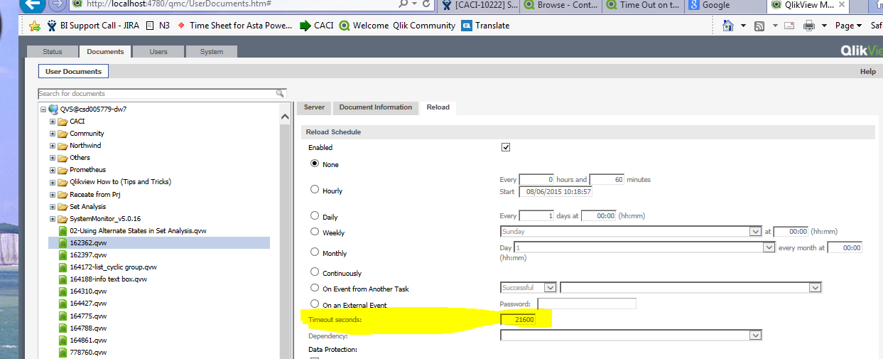 Solved Set A Reload Timeout And Send An Alert Qlik Community