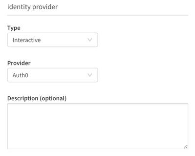 Begin Identity Provider configuration