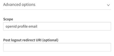 Identity provider configuration advanced settings