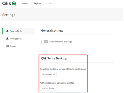 Qlik Sense Desktop authentication within SaaS editions of Qlik Sense.