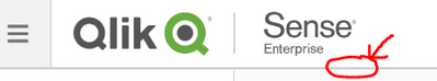Qlik Sense Server Hub Header