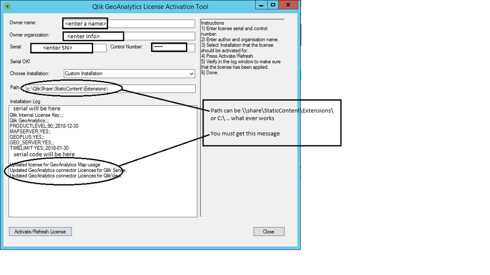 Geo Analytics License Activation Tool Filled out.png