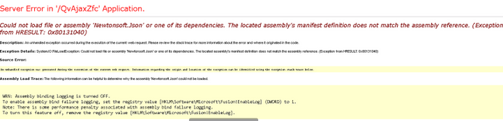 QV NP IIS On Demand Access Point Error Could Not Load file or assembly 'Newtonsoft.Json'.PNG