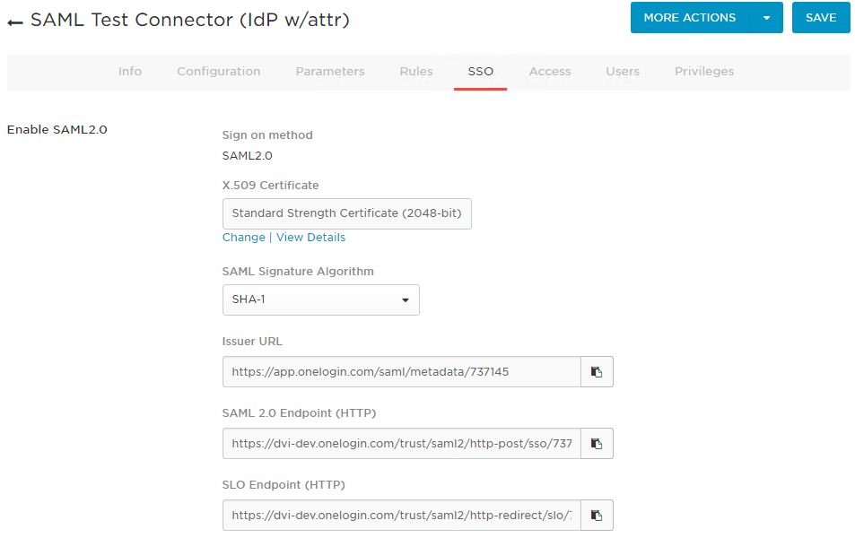 SAML Test Connector idP SSO.png