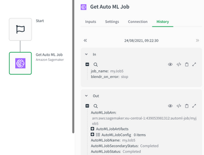 Result of Get AutoML job