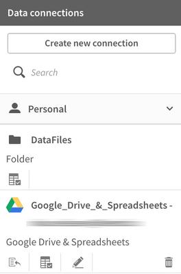 Datasource in Qlik Sense to Google Sheet