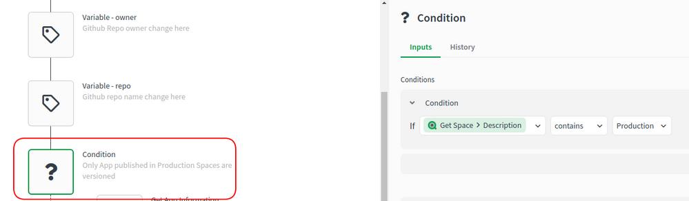 Condition Block properties