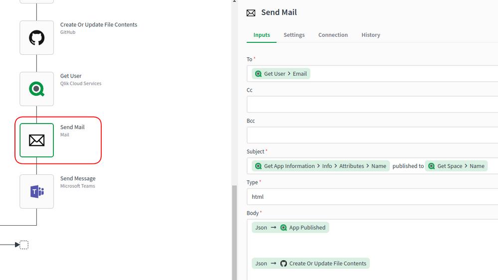 Send Mail Properties