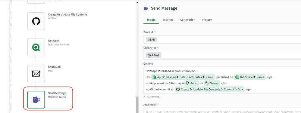 Send Message Properties
