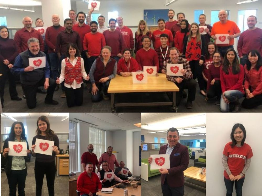 Pictures from  Qlik Newton's Wear Red Day