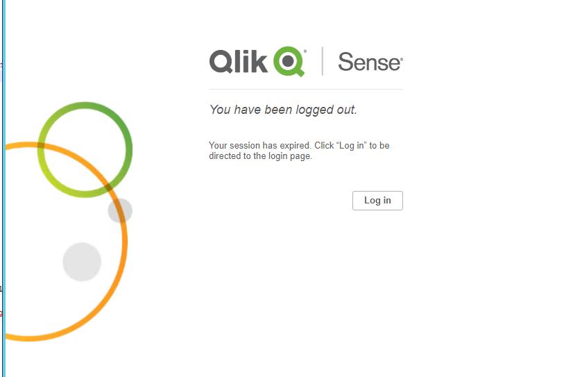 Modify the QlikSense session timedout and 404 page - Qlik
