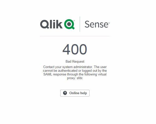 QlikSense SF Saml integration - Qlik Community