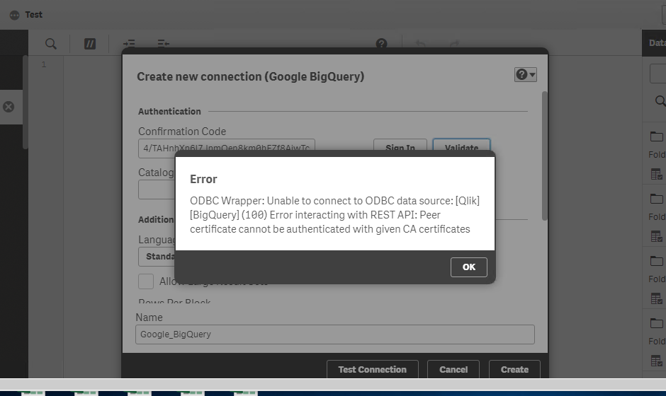 Solved: BigQuery with a Google service account - Qlik Community