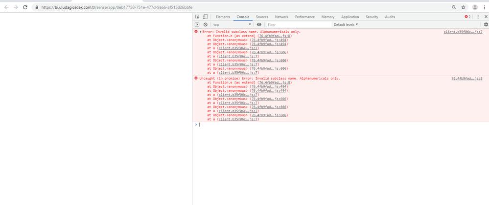 Can't open sense App in Chrome version (75 0 3770     - Qlik